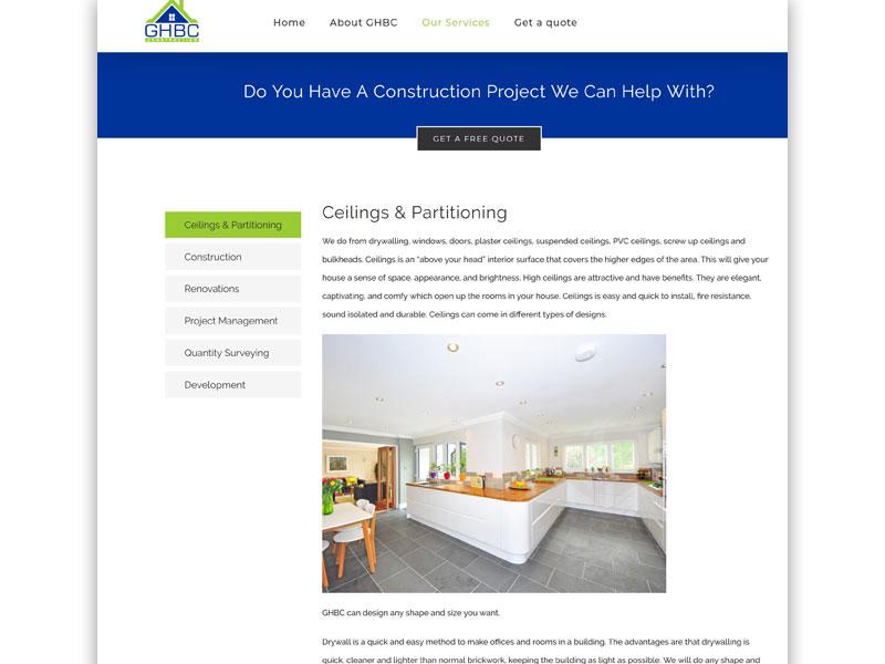 ghbc website 02 - GHBC – Website design