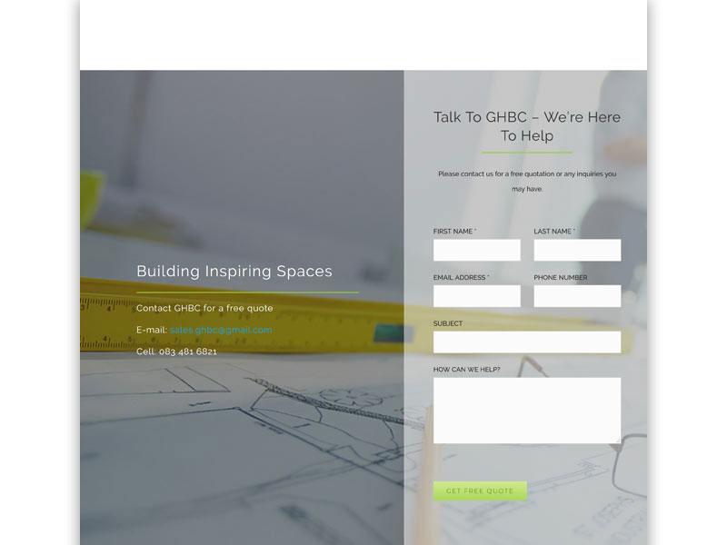 ghbc website 03 - GHBC – Website design