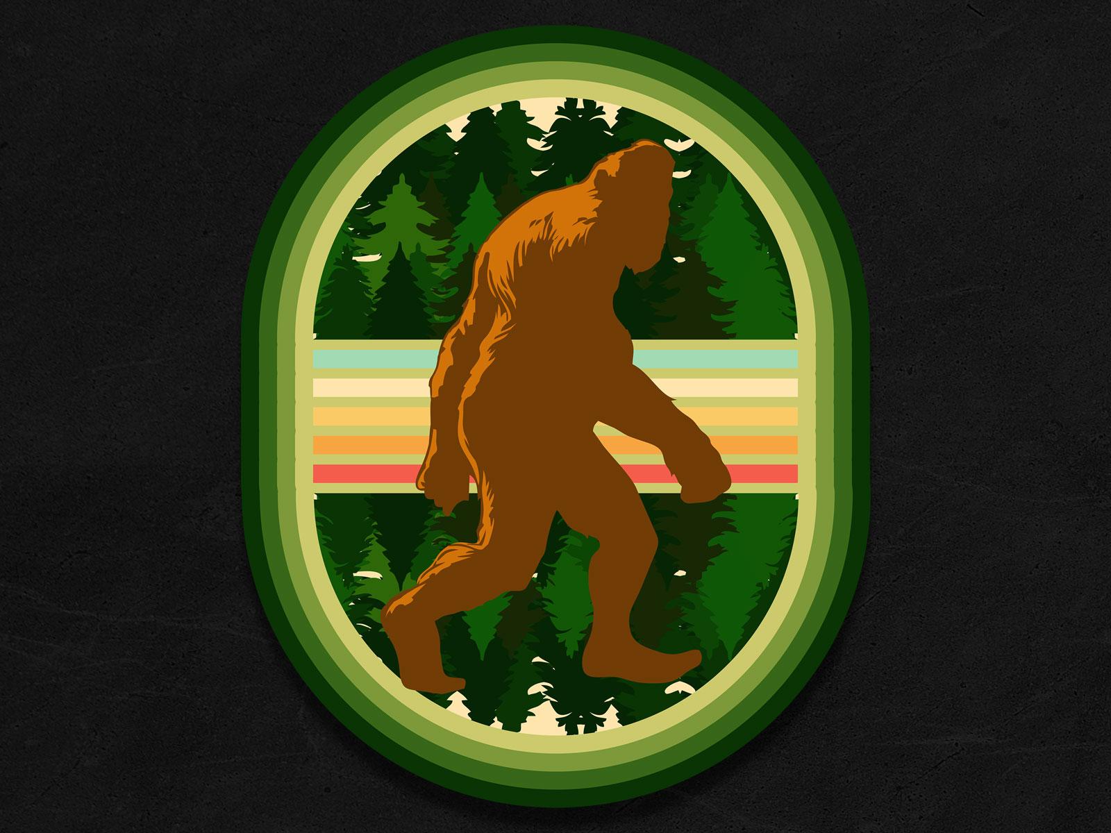Bigfoot - Bigfoot Walking Past the Trees Bigfoot - Portfolio – Print on demand