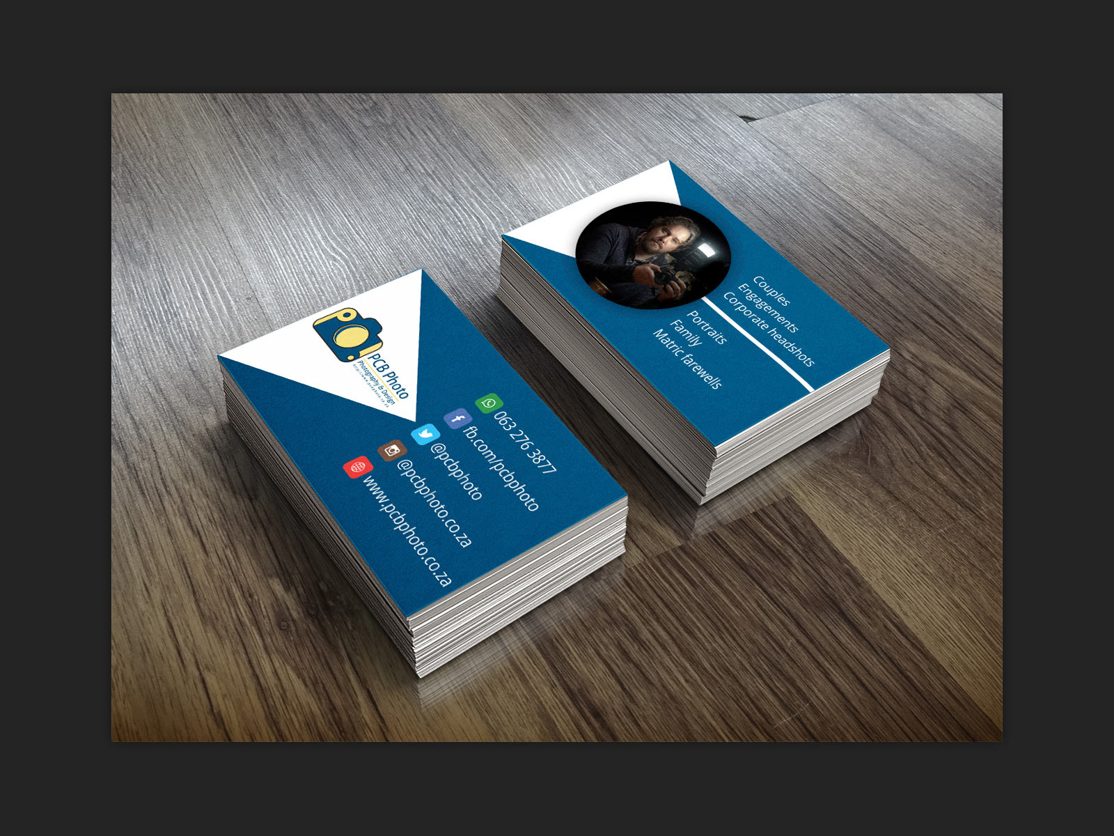 Pieter Bruwer Photography – Business Card design