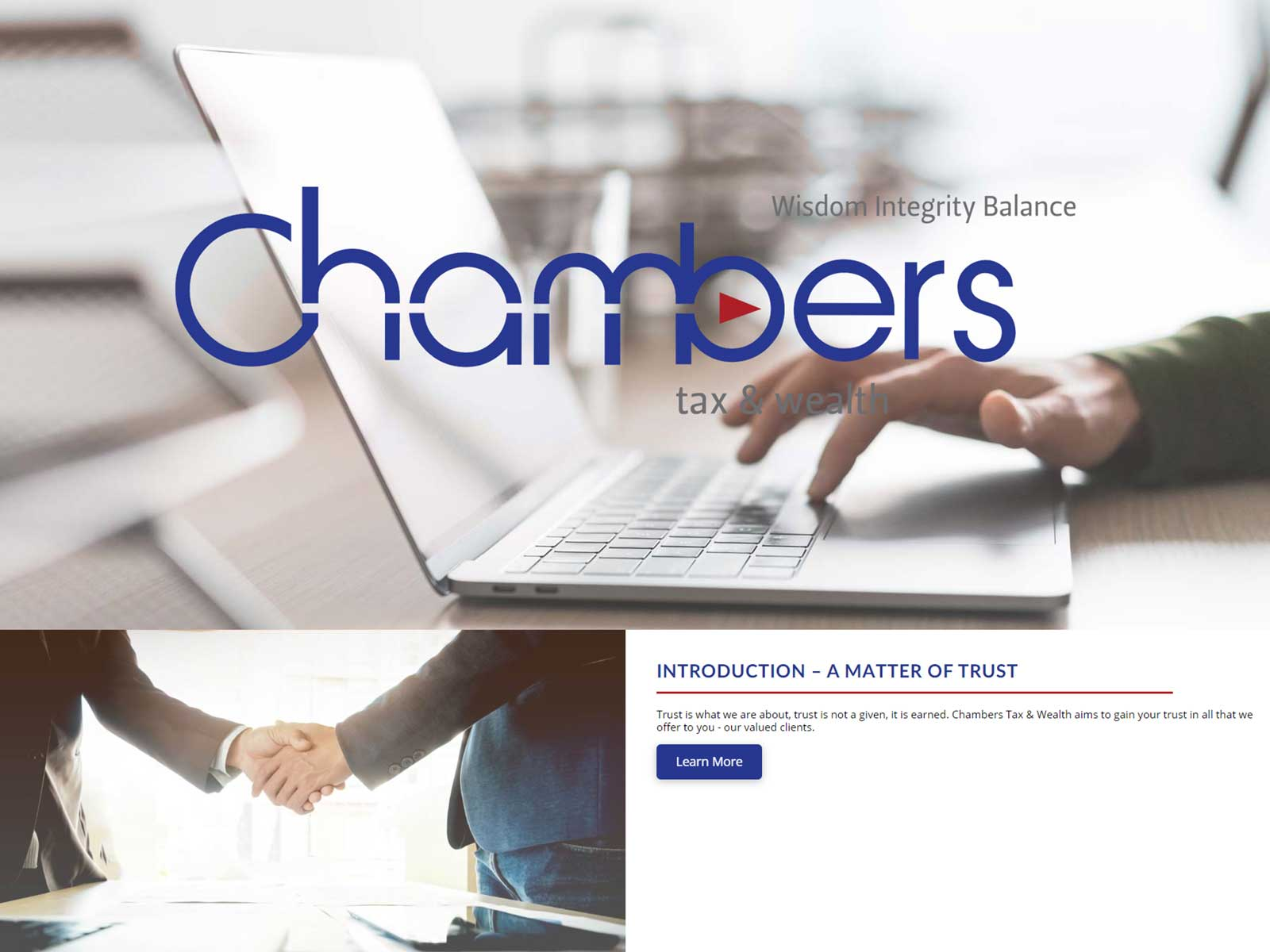 Chambers Tax & Wealth – Website design
