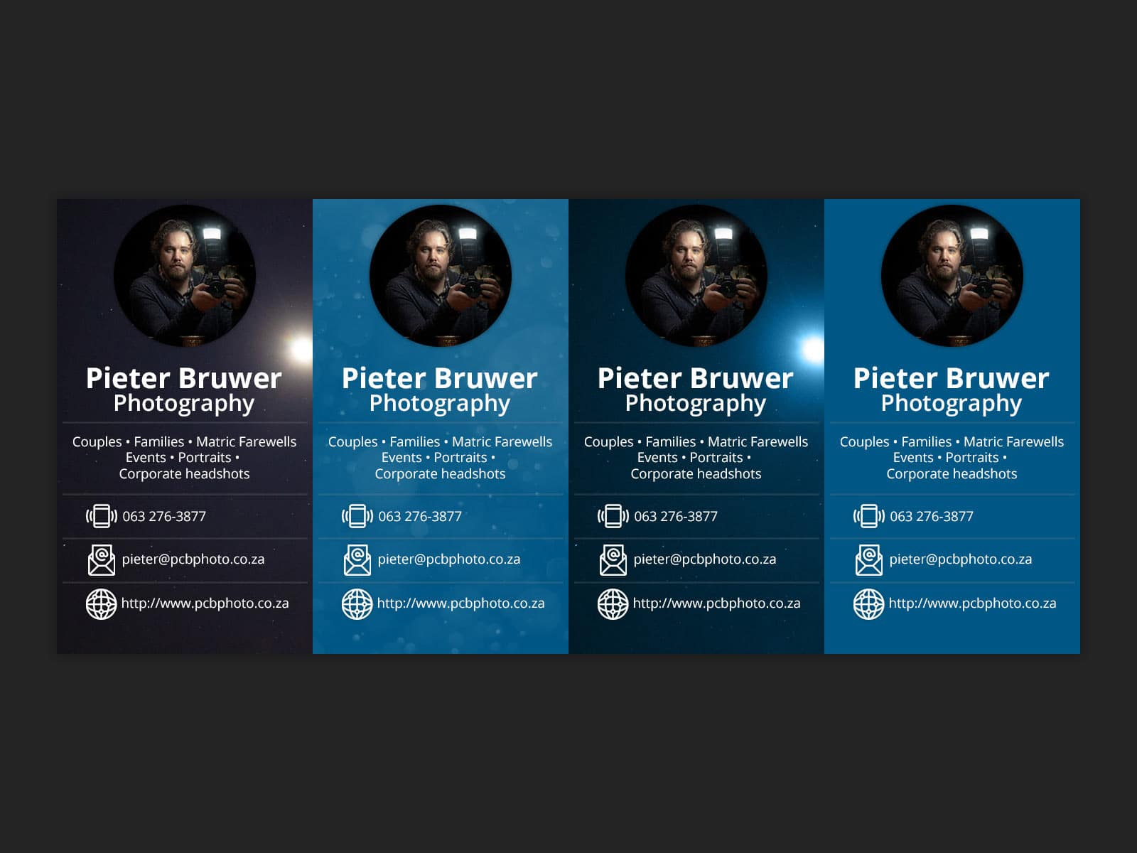 Pieter Bruwer Photography – Digital business cards