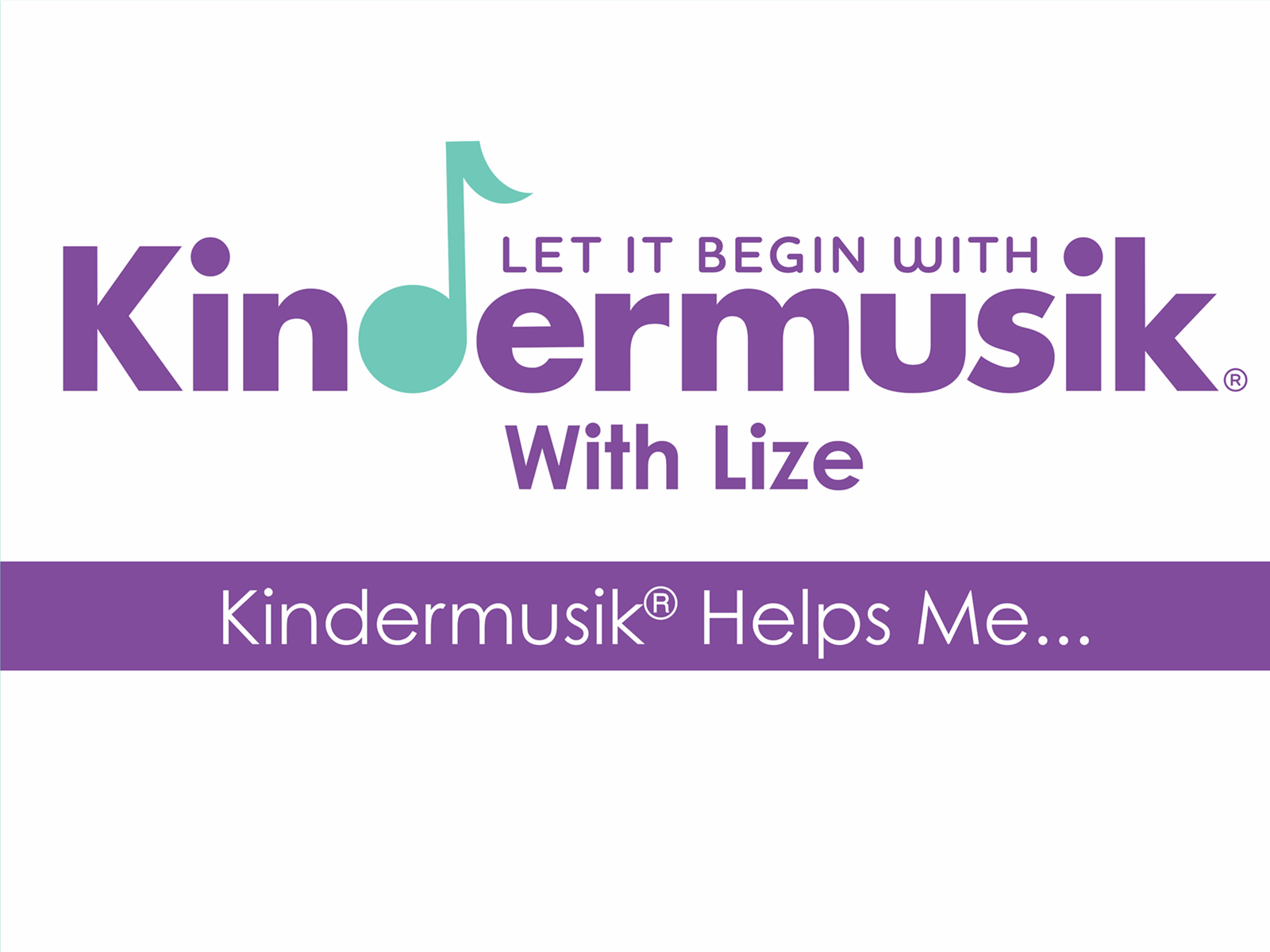 Kindermusiek with Lize – Pullup banner