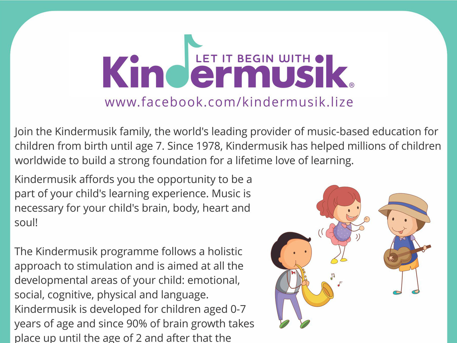Kindermusiek with Lize – Flyer design